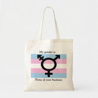 Mi género no es ninguno de su tote del negocio bolsa tela barata