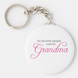 Mi gente preferida me llama abuela llavero redondo tipo pin