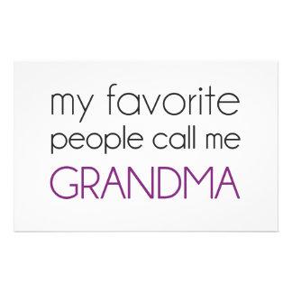 Mi gente preferida me llama abuela papelería de diseño