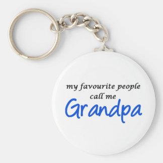 Mi gente preferida me llama abuelo llavero redondo tipo pin