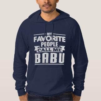 Mi gente preferida me llama Babu Suéter Con Capucha