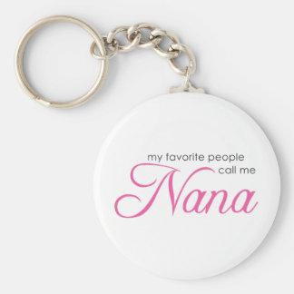 Mi gente preferida me llama Nana Llavero Redondo Tipo Pin