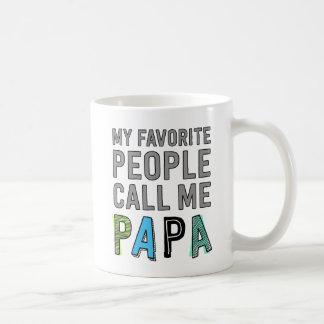 Mi gente preferida me llama papá taza de café