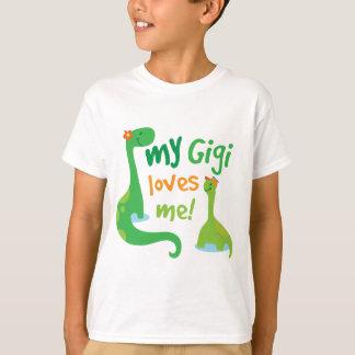 Mi Gigi me ama dinosaurio Playera