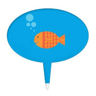 Mi Goldfish del mascota Figuras Para Tartas