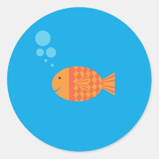 Mi Goldfish del mascota Pegatina Redonda