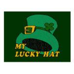 Mi gorra afortunado postales