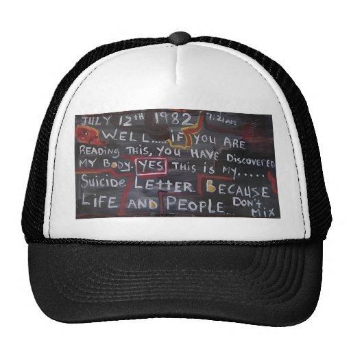 Mi gorra de la letra del suicidio