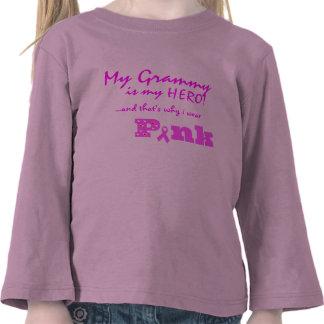 Mi Grammy es mi héroe, de que es porqué llevo ROSA Camisetas