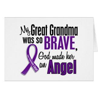 Mi gran abuela es un cáncer pancreático del ángel tarjetón