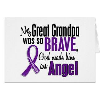 Mi gran abuelo es un cáncer pancreático del ángel felicitación