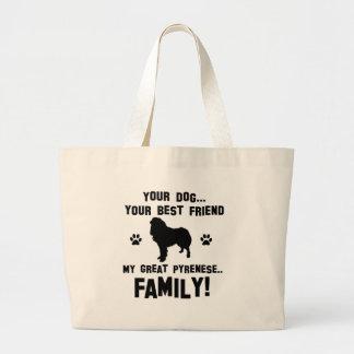 Mi gran familia pyrenese, su perro apenas un mejor bolsa