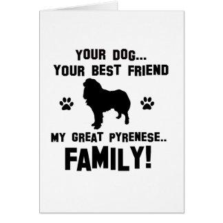 Mi gran familia pyrenese, su perro apenas un mejor tarjeta de felicitación
