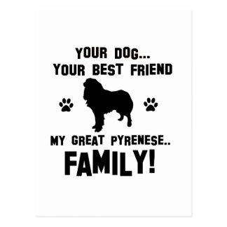 Mi gran familia pyrenese, su perro apenas un mejor tarjeta postal
