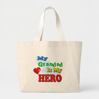 Mi Grandad es mi héroe - inserte su propio nombre Bolsa