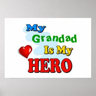 Mi Grandad es mi héroe - inserte su propio nombre Póster