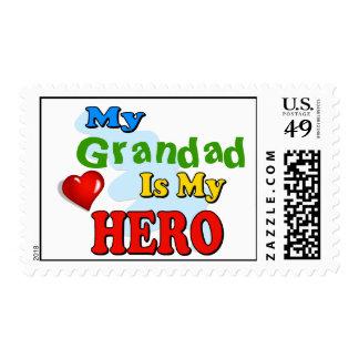 Mi Grandad es mi héroe - inserte su propio nombre Sellos