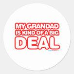 Mi Grandad es un poco una gran cosa Pegatinas Redondas