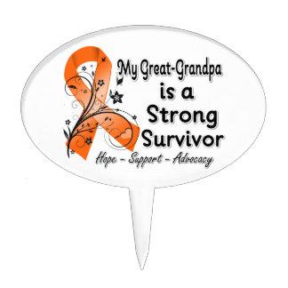 Mi Grande-Abuelo es un naranja fuerte del superviv Decoración Para Tarta