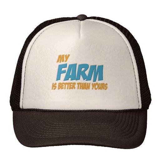 Mi granja es mejor que la suya gorro de camionero