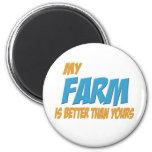 Mi granja es mejor que la suya imán de frigorífico
