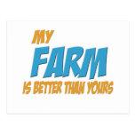 Mi granja es mejor que la suya tarjetas postales