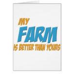 Mi granja es mejor que la suya tarjetón