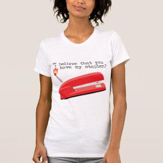 Mi grapadora roja camisetas