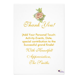 ¡Mi gratitud especialmente para usted - Personali