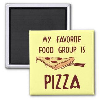 Mi grupo de alimentos preferido es pizza imán de frigorífico