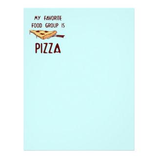 Mi grupo de alimentos preferido es pizza membrete personalizado