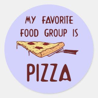 Mi grupo de alimentos preferido es pizza pegatinas