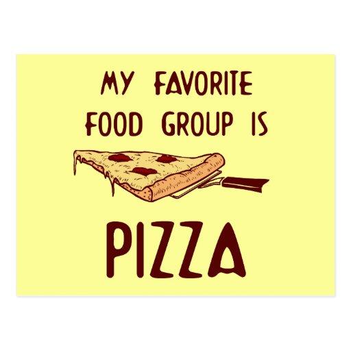 Mi grupo de alimentos preferido es pizza postal