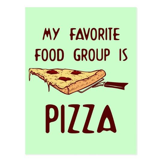 Mi grupo de alimentos preferido es pizza postales