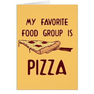 Mi grupo de alimentos preferido es pizza felicitaciones
