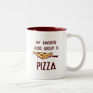 Mi grupo de alimentos preferido es pizza tazas de café