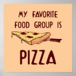 Mi grupo de alimentos preferido es poster de la pi