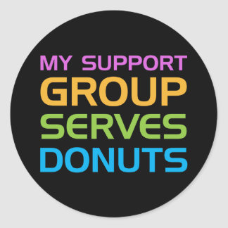 Mi grupo de ayuda sirve los anillos de espuma pegatina redonda