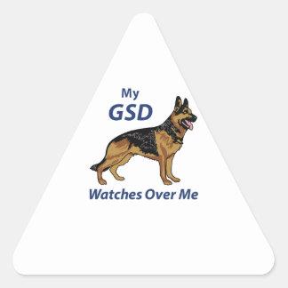 Mi GSD Pegatina Triangular