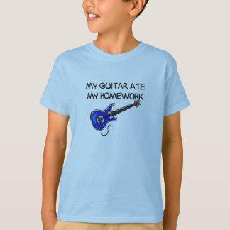 Mi guitarra comió mi camiseta de la preparación poleras
