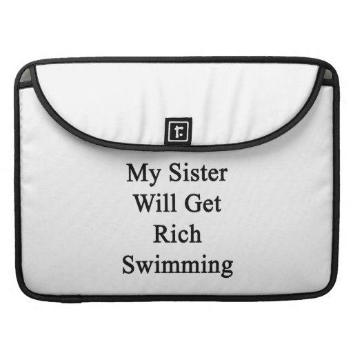 Mi hermana conseguirá la natación rica fundas para macbook pro