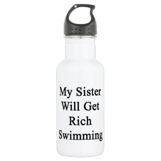 Mi hermana conseguirá la natación rica