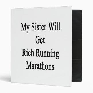 Mi hermana conseguirá maratones corrientes ricos