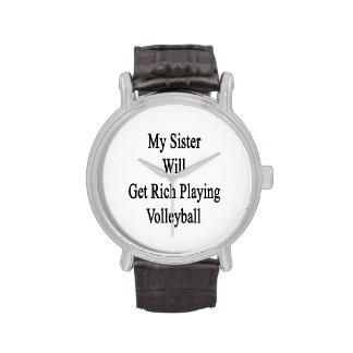 Mi hermana conseguirá rica jugando a voleibol