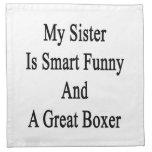 Mi hermana es divertida elegante y gran boxeador servilleta de papel