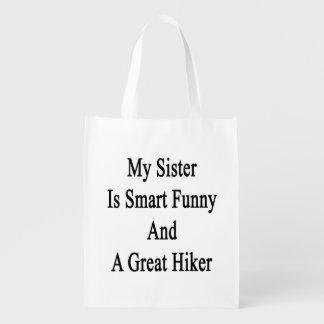 Mi hermana es divertida elegante y un gran bolsas reutilizables