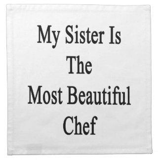 Mi hermana es el cocinero más hermoso servilleta de papel