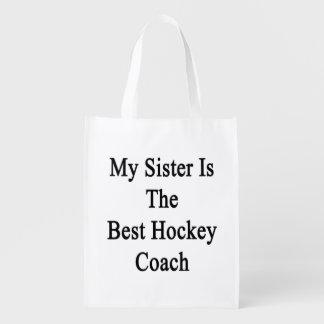 Mi hermana es el mejor coche de hockey bolsas de la compra
