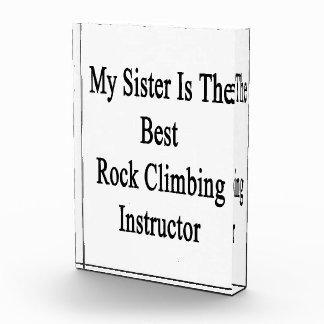 Mi hermana es el mejor instructor de la escalada