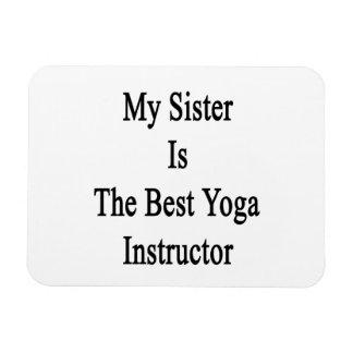 Mi hermana es el mejor instructor de la yoga imanes